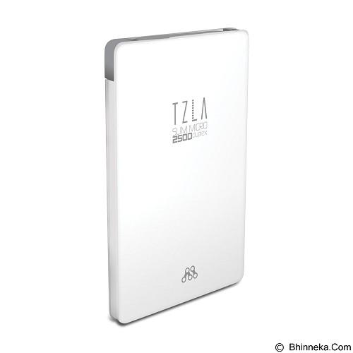 ALCATROZ Tzla Slim Micro 2500mAh - White Grey - Portable Charger / Power Bank