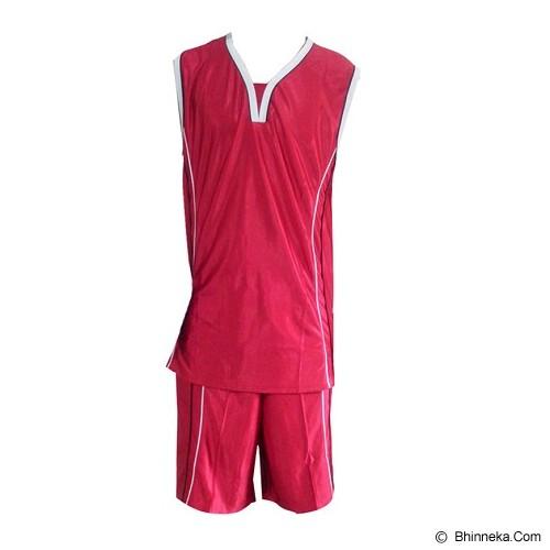 ALL SPORT Baju Setelan Olahraga Basket Size L [BA 006 MP] - Merah/Putih - Baju Setelan Pria