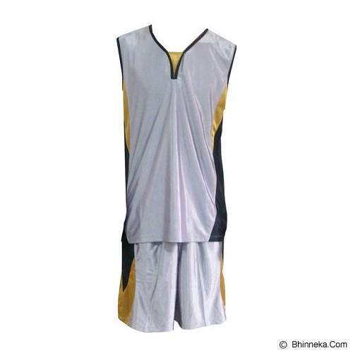 ALL SPORT Baju Setelan Olahraga Basket Size XL [BA 005 SG] - Silver/Gold/Hitam - Baju Setelan Pria