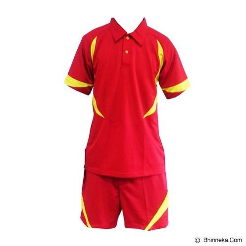 ALL SPORT Baju Setelan Olahraga Size S [BD 003 MK] - Merah/Kuning - BAJU SETELAN PRIA