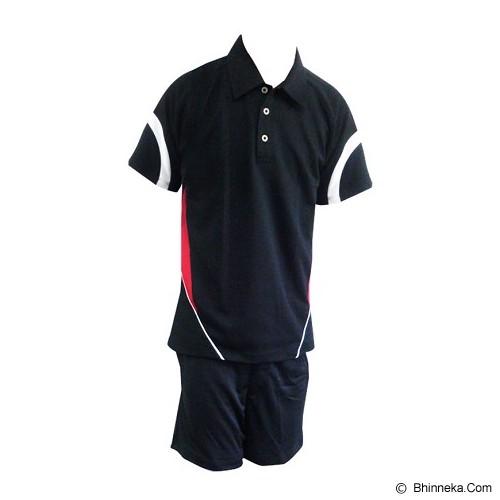 ALL SPORT Baju Setelan Olahraga Tenis Size XL [TM 008 HM] - Hitam/Putih/Merah - BAJU SETELAN PRIA