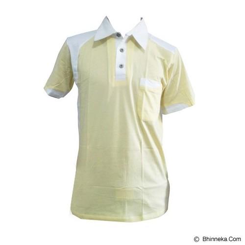 ALL SPORT Polo Pria Katun Size S [GF 003 KP] - Kuning/Putih - Polo Pria