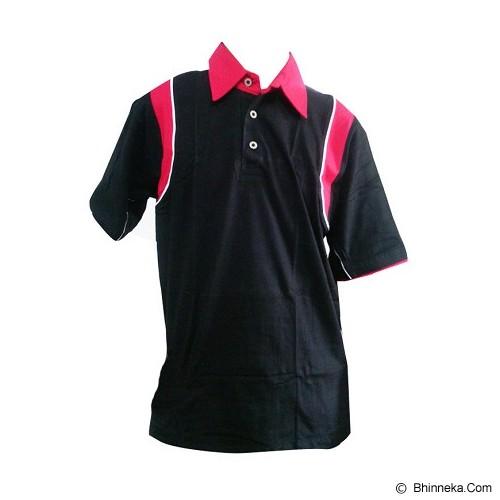 ALL SPORT Polo Pria Katun Size XL [KP 007 HM] - Hitam/Merah - Polo Pria