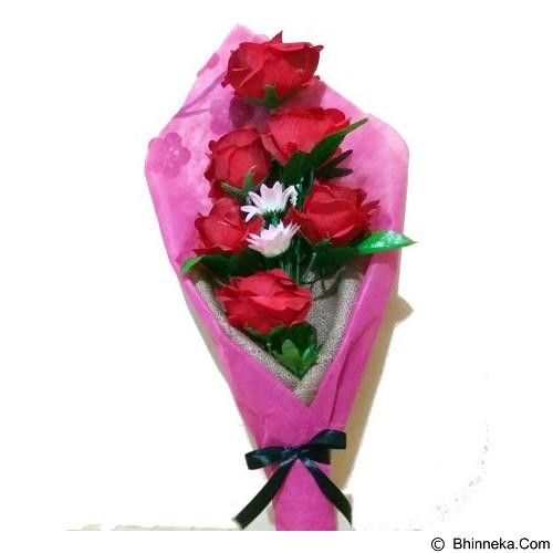 AMARAURA Buket Bunga Palsu Mawar - Red (Merchant) - Tanaman Buatan/Artificial