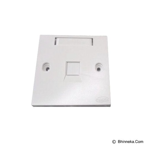 AMP Faceplate 1 Hole [1859049-1] - White (Merchant) - Faceplate