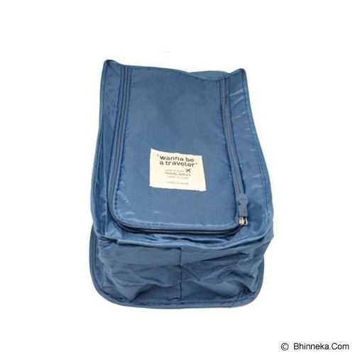 ANEKA IMPORT Shoes Organizer - Dark Blue - Tas Sepatu / Shoes Bag