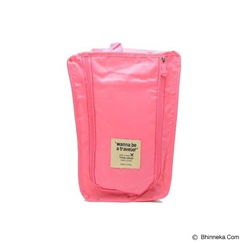 ANEKA IMPORT Shoes Organizer - Pink - Tas Sepatu / Shoes Bag