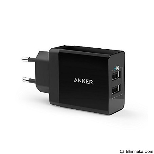 ANKER PowerPort 2 Charging port 24W [A2021311] - Black - Charger Handphone