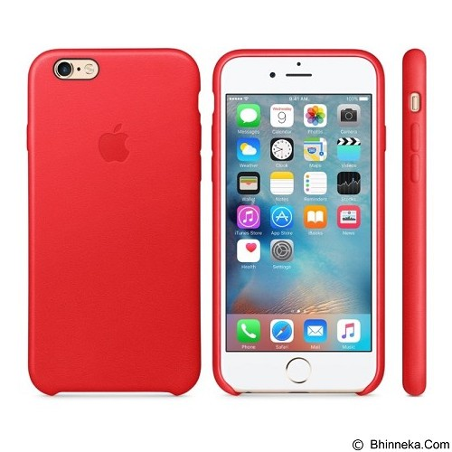 ANYCASE INDONESIA Premium Leather iPhone 6 Case - Red (Merchant) - Casing Handphone / Case