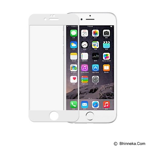 ANYLINK Billionton Tempered Glass iPhone 6 3D+ - White (Merchant - Screen Protector Handphone
