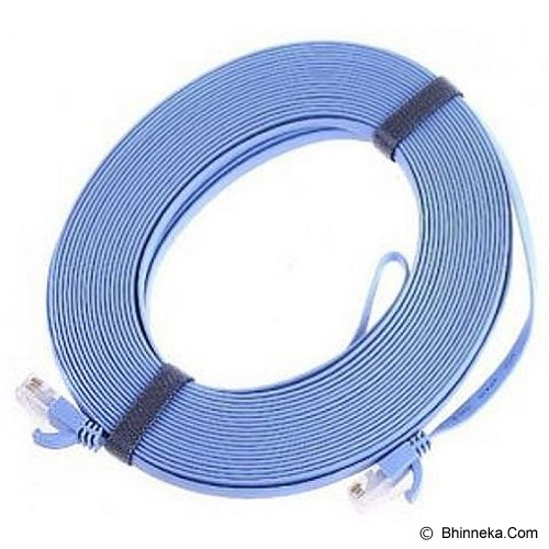 ANYLINX Flat LAN Cable Networking 20 Meter Cat6 - Biru - Network Cable Utp