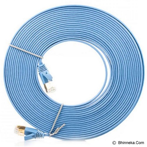 ANYLINX Flat LAN Cable Networking 30 Meter Cat6 - Biru - Network Cable Utp