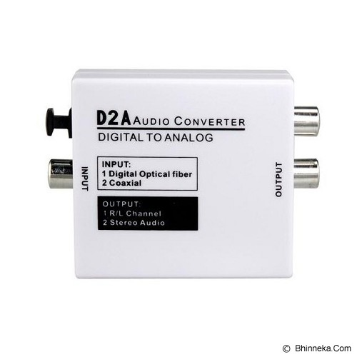 ANYLINX Audio Converter Digital to Analog [D2A] - White - Musik Converter Controller