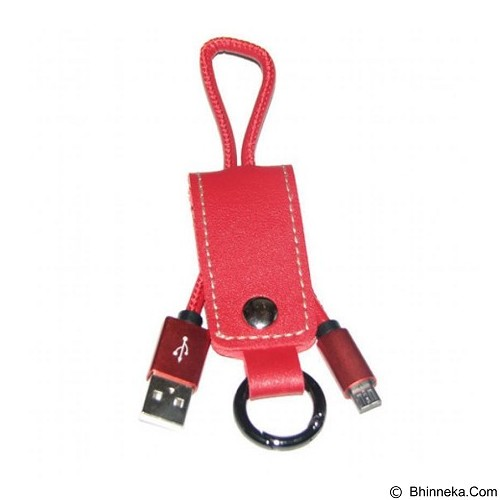 ANYLINX Billionton Kabel USB Micro Gantungan Kunci Sync Data + Packing - Red (Merchant) - Cable / Connector Usb