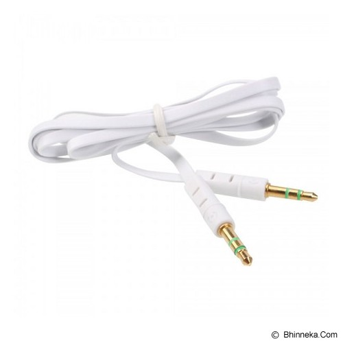 ANYLINX Cable 3.5 Audio Small Flat 1M - Putih - Cable / Connector Analog