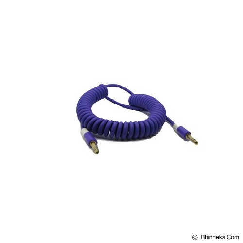ANYLINX Cable 3.5 Audio Telpon Coil Colour - Biru - Cable / Connector Analog