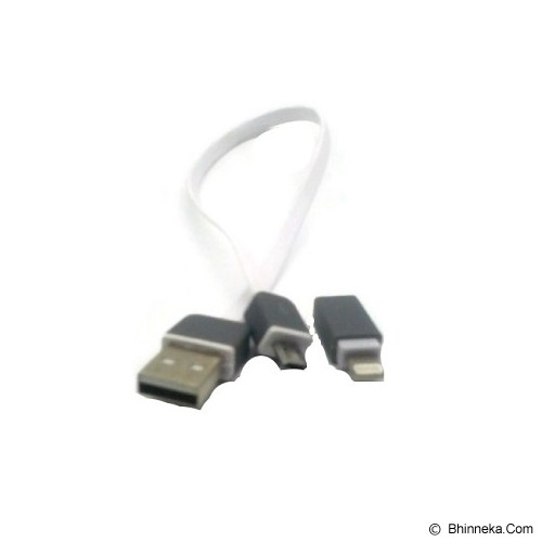 ANYLINX Cable USB 2 in 1 Flat 20CM - Putih - Cable / Connector Usb