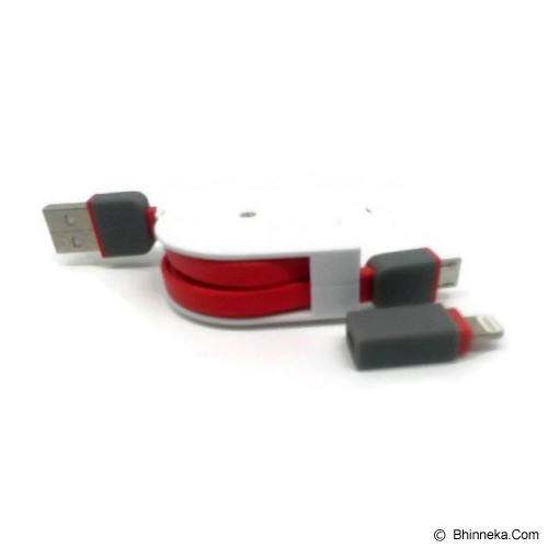 ANYLINX Cable Usb 2 in 1 Retrec - Merah - Cable / Connector Usb