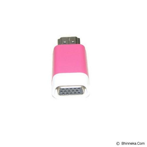 ANYLINX Konektor HDMI to VGA Adapter - Pink - Cable / Connector Hdmi