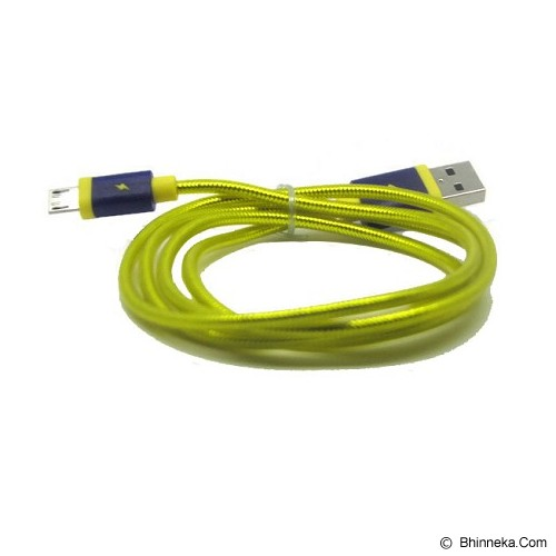 ANYLINX Micro USB Petier 1M Round - Kuning - Cable / Connector Usb