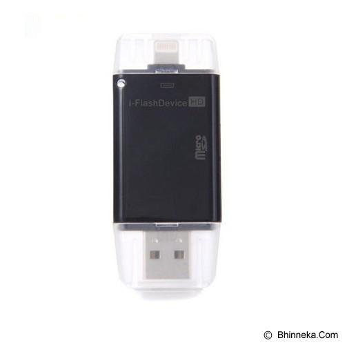 ANYLINX I-Flash Drive Dual Card Reader - Hitam - Memory Card Reader External