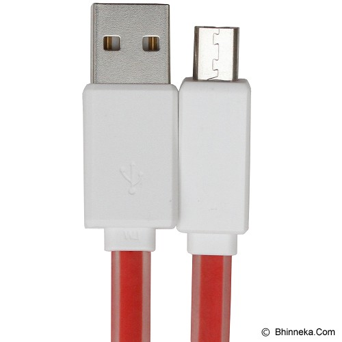 AR USB 2.0 to Micro USB FTS Plastik Light Charger - Merah - Cable / Connector Usb