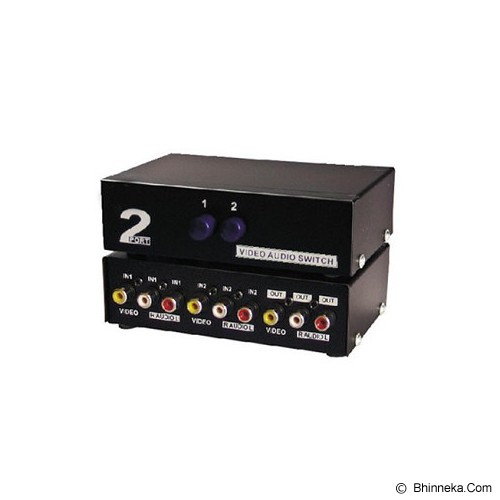 ANYLINX Video Audio/RCA Switch 2 Port - Hitam - Digital Video Converter