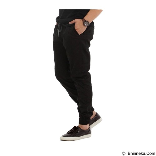 APPAREL LAB Jogger Basic Size L - Black (Merchant) - Celana Panjang Pria