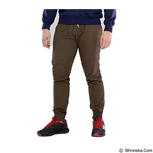 APPAREL LAB Jogger Basic Size L - Dark Brown (Merchant) - Celana Panjang Pria