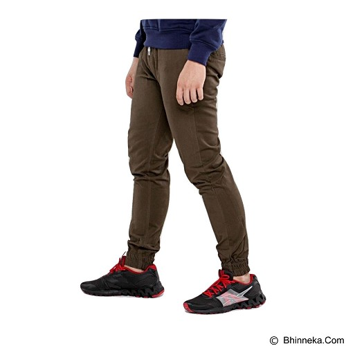 APPAREL LAB Jogger Basic Size S - Dark Brown (Merchant) - Celana Panjang Pria