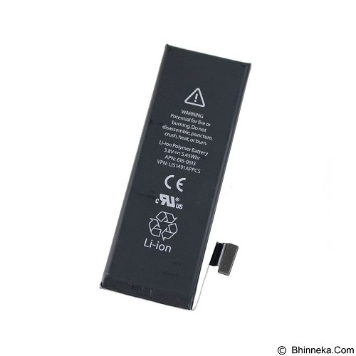 APPLE Battery for iPhone 5 - Black (Merchant) - Handphone Battery