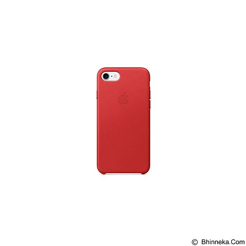 APPLE Leather Case for Apple iPhone 7 - Red (Merchant) - Casing Handphone / Case