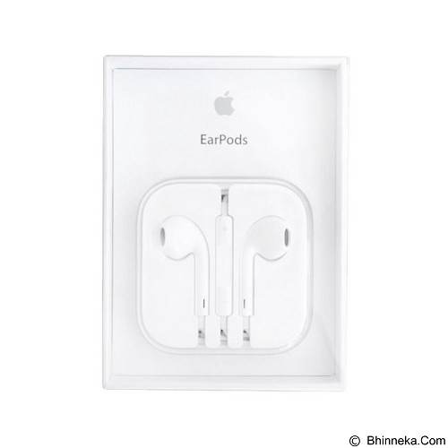 APPLE Original EarPods with Remote and Mic [MD827FE/A] - White - Earphone Ear Bud