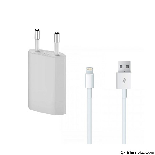 LONG CELL USB Power Adapter for Apple iPhone 5 [MB707ZM/B] - White (Merchant) - Charger Handphone