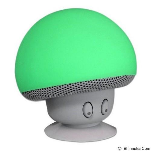 DEERUMA Portable Small Mushroom Style Mini Bluetooth Speaker - Green (Merchant) - Speaker Bluetooth & Wireless