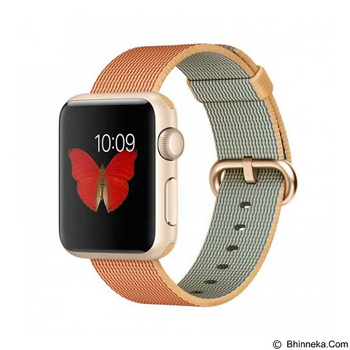 APPLE Watch 38mm Gold Aluminum [MMF52ID/A] - Red Nylon - Smart Watches