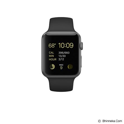 APPLE Watch 42mm Space Grey Alumunium Case with Black Sport Band (Merchant) - Smart Watches