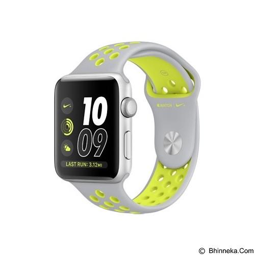 APPLE Watch Nike+ 42mm Aluminium Sport [MNYQ2] - Silver Volt (Merchant) - Smart Watches
