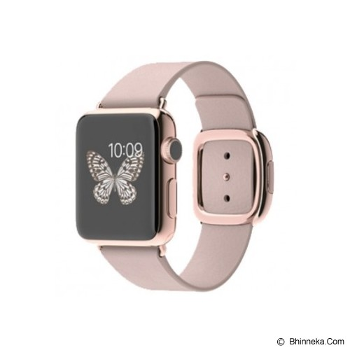 APPLE Watch Stainless Steel Modern Buckle 38mm - Silver/Soft Pink - Smart Watches