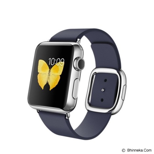 APPLE Watch Stainless Steel Modern Buckle 42mm - Silver/Midnight Blue - Smart Watches