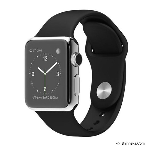 APPLE Watch Stainless Steel Sport 38mm - Grey/Black - Smart Watches