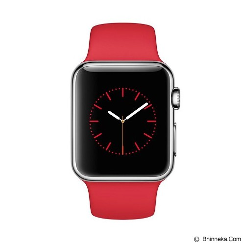 APPLE Watch Stainless Steel Sport 38mm - Silver/Red - Smart Watches