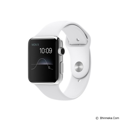APPLE Watch Stainless Steel Sport 38mm - Silver/White - Smart Watches