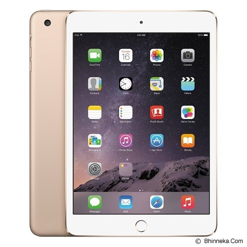 APPLE iPad Mini 3 Retina Display Wifi + Cellular 3G 64GB - Gold (Merchant) - Tablet iOS