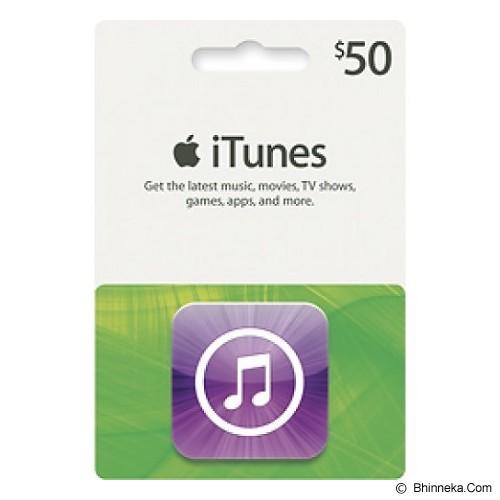 APPLE iTunes Gift Card 50$ Digital Code - Voucher Games