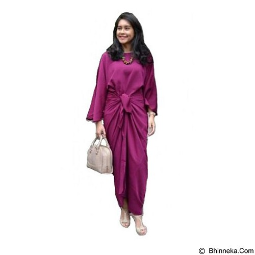 ARINDI'S COLLECTION Hamra Kaftan Ikat - Maroon Purple (Merchant) - Kaftan