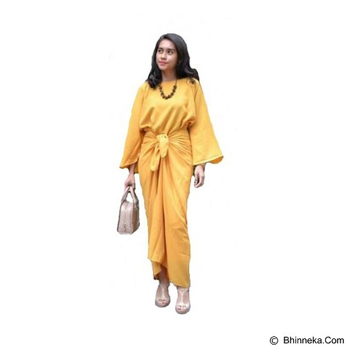 ARINDI'S COLLECTION Hamra Kaftan Ikat - Mustard (Merchant) - Kaftan