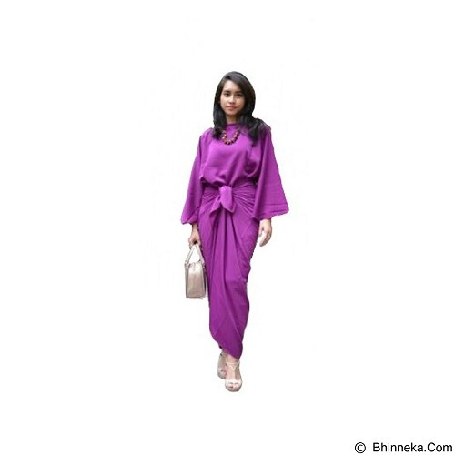 ARINDI'S COLLECTION Hamra Kaftan Ikat - Purple (Merchant) - Kaftan