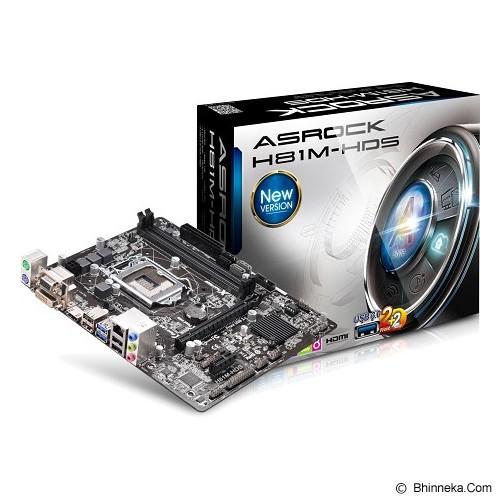 ASROCK Motherboard Socket LGA1150 [H81M-HDS] - Motherboard Intel Socket LGA1150