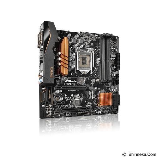 ASROCK Motherboard Socket LGA1151 [B150M Pro 4] - Motherboard Intel Socket Lga1151